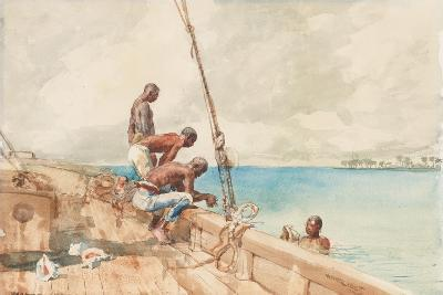 The Conch Divers, 1885-Winslow Homer-Giclee Print