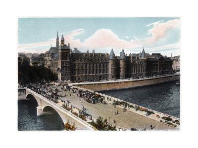 The Conciergerie and the Pont Neuf, Paris, C1900--Giclee Print