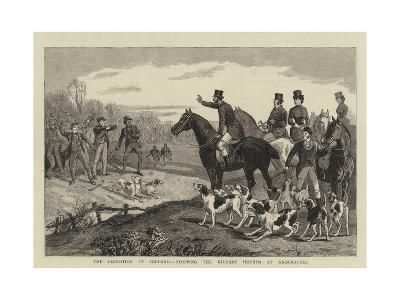 The Condition of Ireland, Stopping the Kildare Hounds at Knockacree--Giclee Print