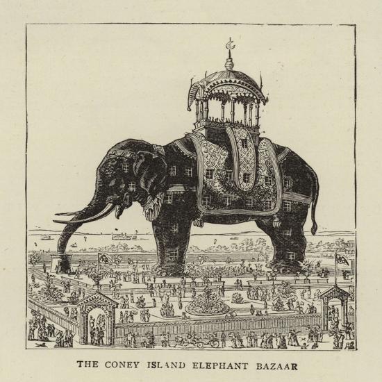 The Coney Island Elephant Bazaar--Giclee Print