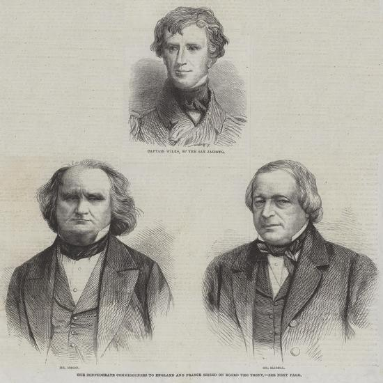 The Confederate Commissioners to England and France Seized on Board the Trent--Giclee Print