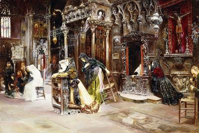 The Confession, 1893-Jose Gallegos Arnosa-Giclee Print