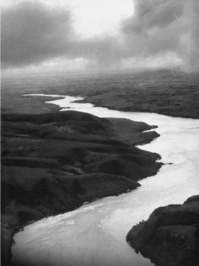 The Congo River Running in Betwenn the Jungle-Dmitri Kessel-Photographic Print
