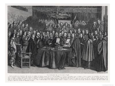 The Congress of Munster Concludes the Treaty of Westphalia- Suyderhoet-Giclee Print