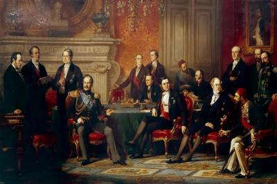 The Congress of Paris in 1856-Édouard Louis Dubufe-Giclee Print