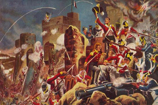 'The Connaught Rangers. The Capture of The Citadel at Badajoz', 1812, (1939)-Unknown-Giclee Print