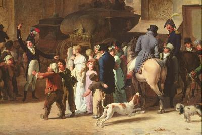 The Conscripts of 1807 Marching Past the Gate of Saint-Denis, Detail of Spectators-Louis Leopold Boilly-Giclee Print