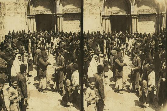 The Consecration of Easter Eggs on Easter before the Church of the Holy Sepulchre, 1913--Giclee Print