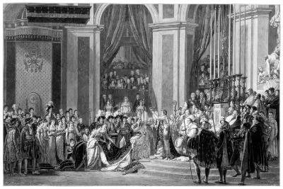 The Consecration of the Emperor Napoleon and the Coronation of the Empress Josephine, 1804-Jacques-Louis David-Giclee Print