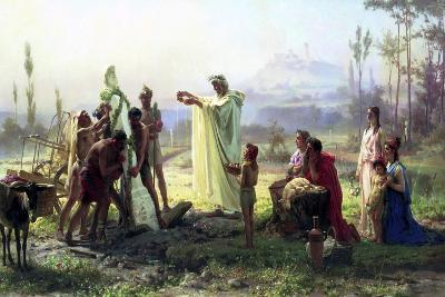 The Consecration of the Herma, 1874-Fyodor Andreyevich Bronnikov-Giclee Print