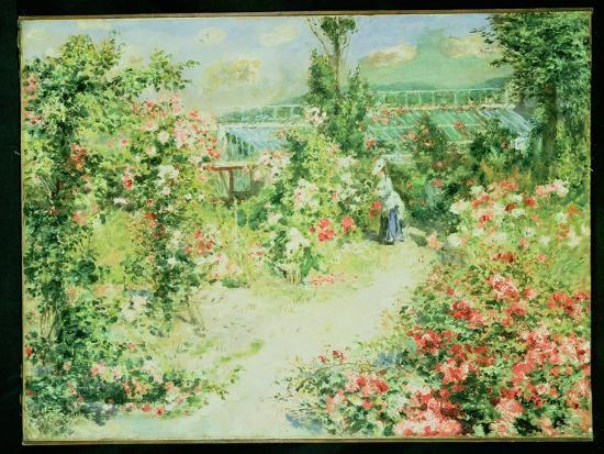 The Conservatory-Pierre-Auguste Renoir-Giclee Print