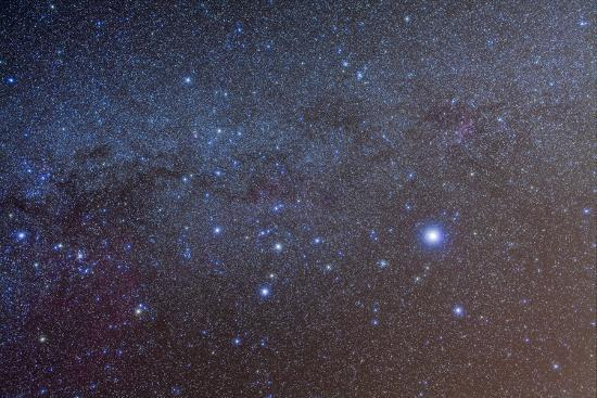 The Constellation of Canis Major with Nearby Deep Sky Objects--Photographic Print
