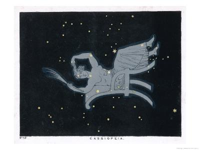The Constellation of Cassiopeia a Woman Seated-Charles F^ Bunt-Giclee Print