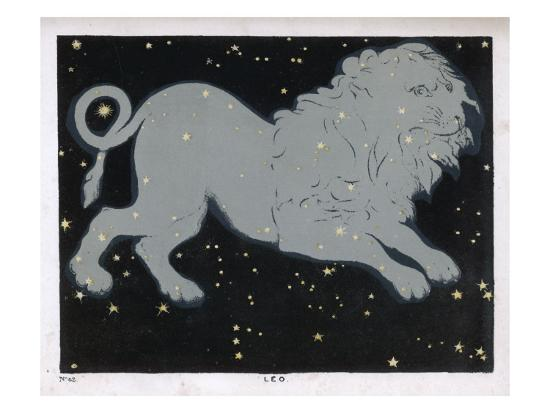 The Constellation of Leo, the Lion--Giclee Print