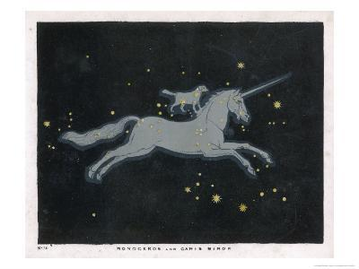 The Constellation of Monoceros, a Unicorn, and Canis Minor, a Small Dog-Charles F^ Bunt-Giclee Print