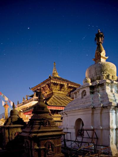 The Constellation of Orion in the Sky at Dawn Above the Hariti Mandir Temple-Don Smith-Photographic Print