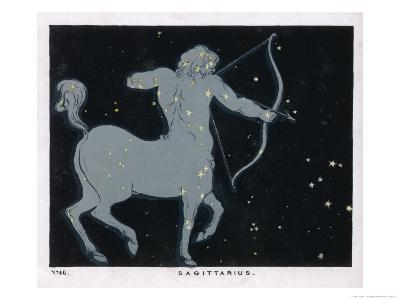 The Constellation of Sagittarius Half Man and Half Horse with a Bow and Arrow-Charles F^ Bunt-Giclee Print