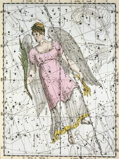 The Constellation Virgo from A Celestial Atlas-A^ Jamieson-Giclee Print