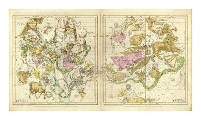 The Constellations in April - September, c.1835-Elijah H^ Burritt-Art Print