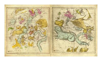 The Constellations in October - March, c.1835-Elijah H^ Burritt-Art Print