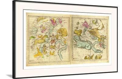 The Constellations in October - March, c.1835-Elijah H^ Burritt-Framed Art Print
