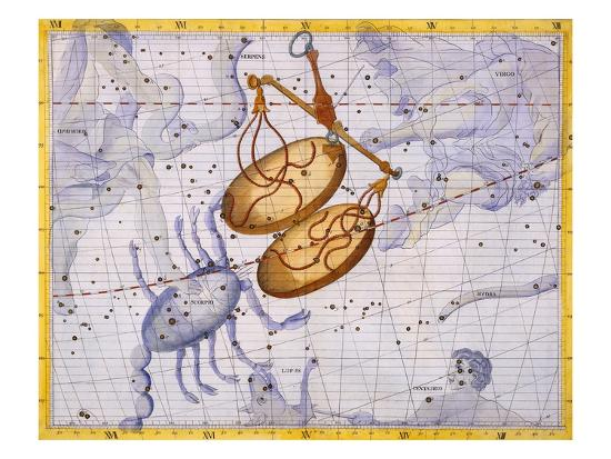 The Constellations of Libra and Scorpio by James Thornhill-Stapleton Collection-Giclee Print