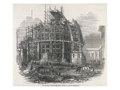 The Construction of the Reading Room at the British Museum--Giclee Print