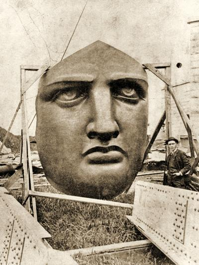 The Construction of the Statue of Liberty, Detail of the Face, C.1876--Photographic Print