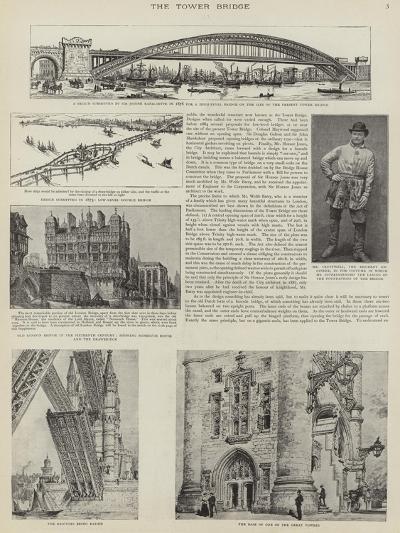The Construction of Tower Bridge, London--Giclee Print