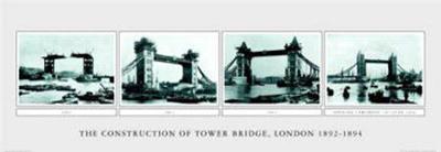 The Construction of Tower Bridge--Art Print