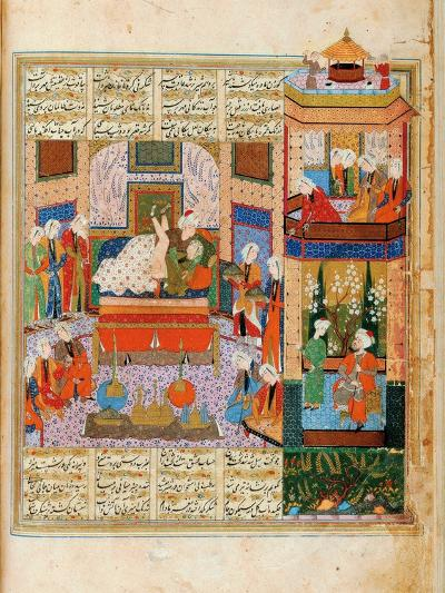 The Consummation of the Marriage Between Khusraw and Shirin--Giclee Print