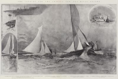 The Contest for the America Cup, the Rival Yachts-Henry Charles Seppings Wright-Giclee Print