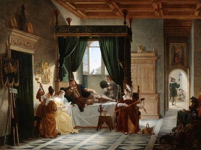 The Convalescence of Bayard, C1796-1842-Pierre Henri Revoil-Giclee Print