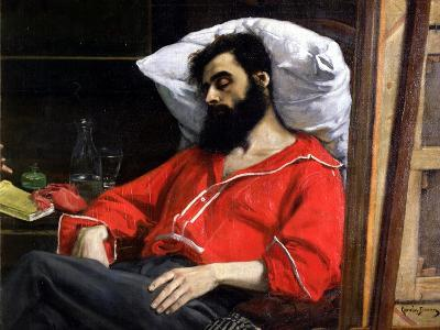 "The Convalescent, or the Wounded Man, Detail from ""The Visit to the Convalescent"", circa 1860-Charles ?mile Carolus-Duran-Giclee Print"