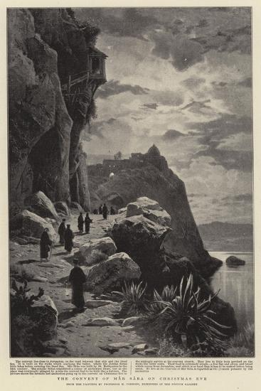The Convent of Mar Saba on Christmas Eve-Herman David Salomon Corrodi-Giclee Print