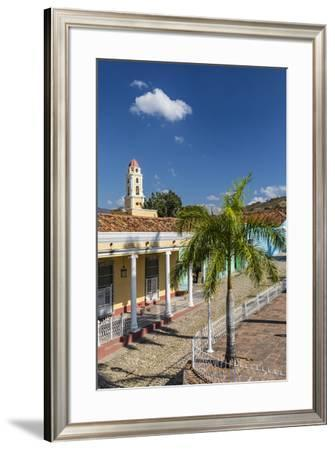 The Convento de San Francisco and Plaza Mayor, Trinidad, UNESCO World Heritage Site, Cuba, West Ind-Michael Nolan-Framed Photographic Print