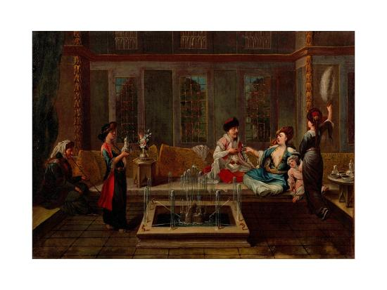 The Conversation-Jean-Baptiste Vanmour-Giclee Print