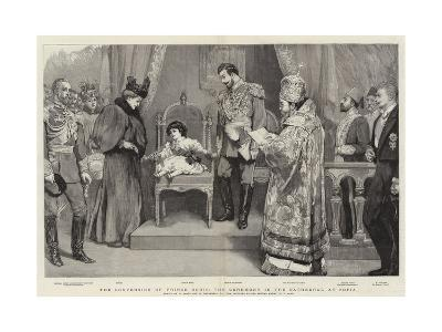 The Conversion of Prince Boris, the Ceremony in the Cathedral at Sofia-William Small-Giclee Print