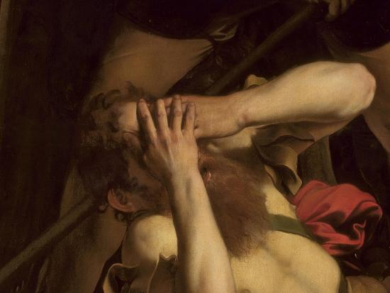 The Conversion of St. Paul (Detail)-Caravaggio-Giclee Print