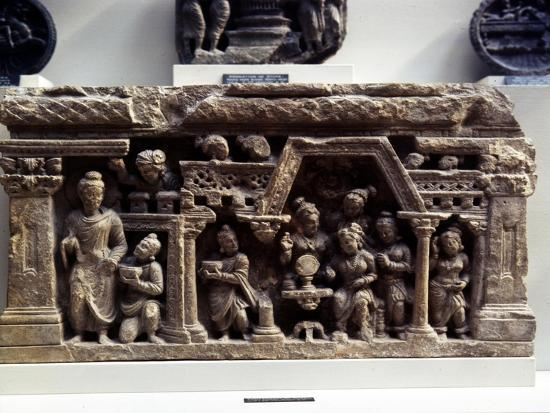 The Conversion of Sundarananda., Relief from Afghanistan, 2nd century-Unknown-Giclee Print