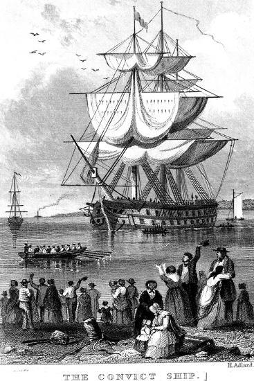 The Convict Ship, C1820-Henry Adlard-Giclee Print