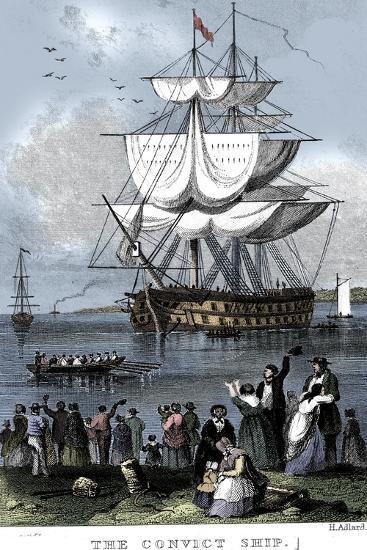 'The Convict Ship', c1820-Henry Adlard-Giclee Print