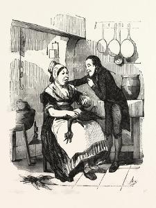 The Cook and Her Admirer in the Kitchen