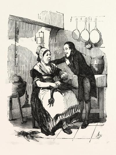 The Cook and Her Admirer in the Kitchen--Giclee Print