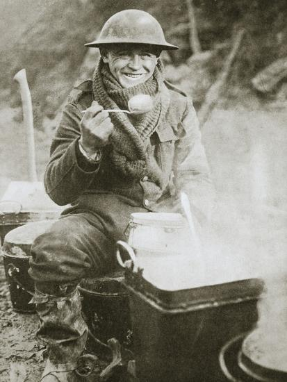 'The cook saves a large one for himself', Somme campaign, France, World War I, 1916-Unknown-Photographic Print