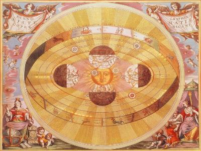 The Copernican System, 1543-Andreas Cellarius-Giclee Print