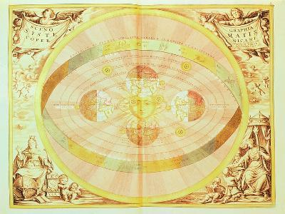 The Copernican System of the Sun, from the 'Harmonia Macrocosmica', Published in Amsterdam, 1660D-Andreas Cellarius-Giclee Print