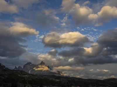 The Cordillera Paine Mountain in Torres Del Paine National Park on the Right-Jay Dickman-Photographic Print