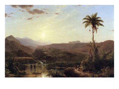 The Cordilleras - Sunrise-Frederic Edwin Church-Art Print