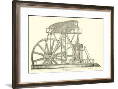The Corliss Engine, Side Elevation--Framed Giclee Print